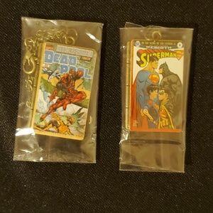 Comic Book Series: Superman & Deadpool Necklaces